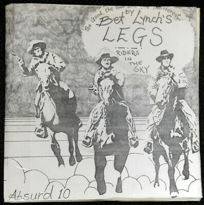Bet Lynch's Legs Riders In The Sky The Good Avantgarde DIY Sleeve 7  Single 1979 • 3.40£
