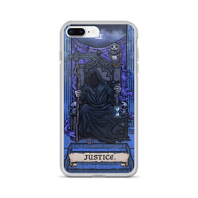 £18.15 • Buy Justice Tarot Card Goth Phone Case Occult Horror IPhone X XR XS Max 8 7 Plus