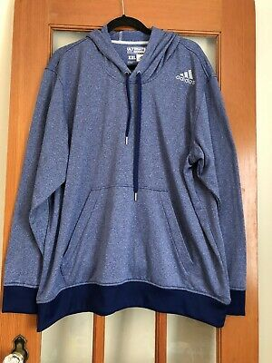 $ CDN38 • Buy Men's Adidas Ultimate Hoodie 2 XL Blue Front Pocket 100% Polyester Pullover