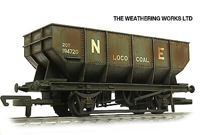 Dapol 21t BR / PO Mineral / Coal Hopper Wagon +optional Load PRO WEATHERED LOOK • 19.99£