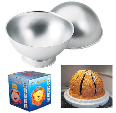 Sports Ball Set Create 3D Cake Tennis Basket Football Tin Sponge Pan Birthday • 9.99£
