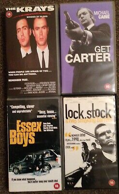 Gangster:british-vhs Small Box Bundle-the Krays,get Carter,essex Boys,lock Stock • 5.90£