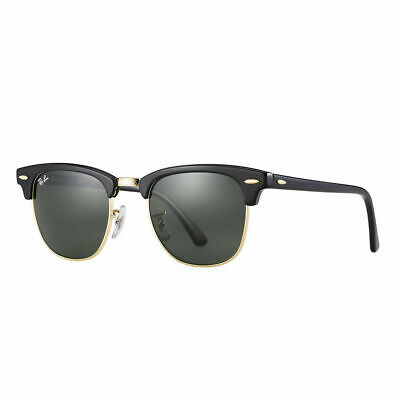 AU99.99 • Buy RayBan Clubmaster Sunglasses - Black Green Classic G-15 - 3016 W0365 51-21