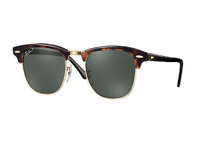 AU129.99 • Buy RayBan Clubmaster POLARIZED Sunglasses Tortoise Green Classic 3016 990/58 49-21