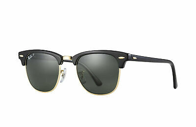 AU129.99 • Buy RayBan Clubmaster POLARIZED Sunglasses - Black Green Classic 3016 901/58 49-21