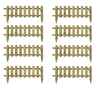 £66.99 • Buy Wooden Panel Picket Fencing Garden Wood Path Panel Border Fence Set Of 8