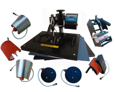 AU557.56 • Buy 8 In 1 Digital Heat Press Machine Transfer Sublimation For T-Shirt Mug Cup Hat