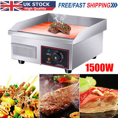£85.98 • Buy Electric Griddle Commercial Kitchen Hot Plate Countertop BBQ Grill Bacon Fryer