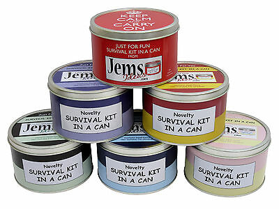 SURVIVAL KIT IN A CAN. Fun Wedding Gift For Mother/Father Of The Groom/Bride  • 11.95£