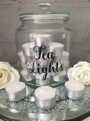 £1.98 • Buy Tea Lights Wax Melts Candle Sticker Label/ Decal For Storage Jar Tray Craft DIY