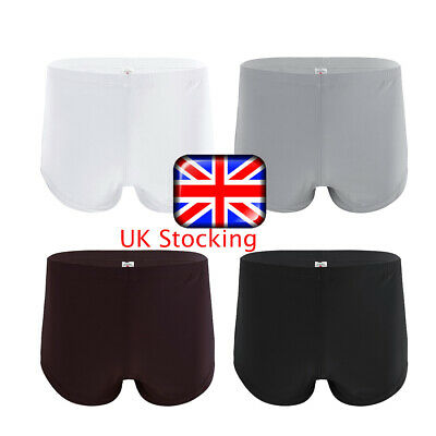 UK Sexy Men Ice Silk See Through Underwear Briefs Boxer Shorts Trunks Underpants • 4.65£