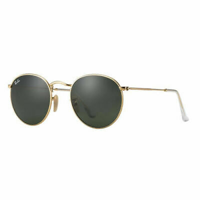 AU99.99 • Buy RayBan Round Metal Sunglasses - Gold Green Classic G-15 - 3447 001 50-21