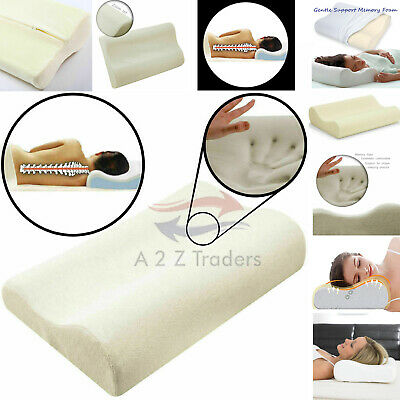 New Contour Memory Foam Luxury Neck Support Pillow Head Back Orthopedic Cushion • 10.95£