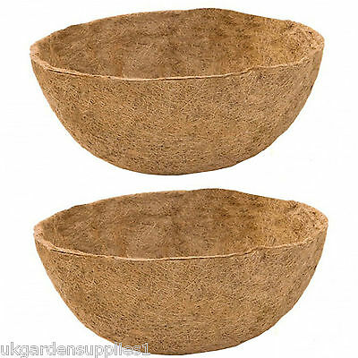 £7.99 • Buy Hanging Basket Round Coco Fibre Garden Wall Flower Coir Liners 14  Set Of 2