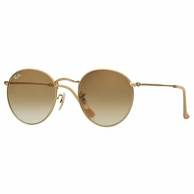 AU99.99 • Buy RayBan Round Metal Sunglasses - Gold Light Brown Gradient G-15 3447 112/51 50-21