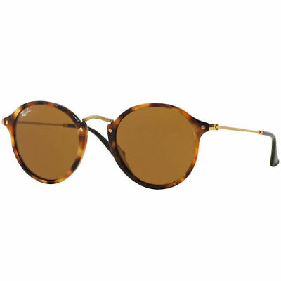 AU99.99 • Buy RayBan Round Fleck Sunglasses - Tortoise Gold Brown Classic B-15 2447 1160 49-21