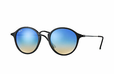 AU99.99 • Buy RayBan Round Fleck Sunglasses - Black Blue Gradient Flash - 2447 901/4O 49-21