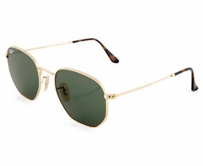 AU99.99 • Buy RayBan Hexagonal Flat Lenses Sunglasses - Gold Green Classic 3548N 001 51-21