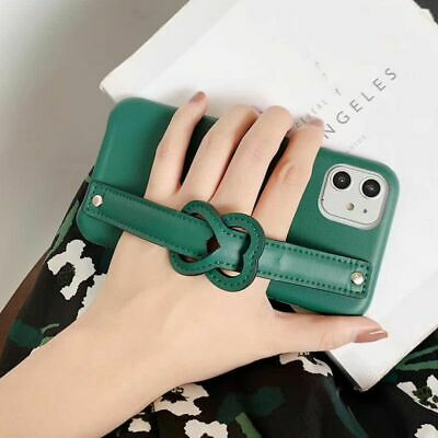 Candy Color Wrist Strap Faux Leather Phone Case For IPhone 11 Pro Max X XR XS 8 • 7.62£