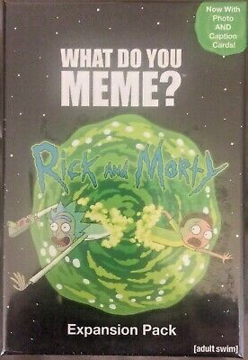 AU24.80 • Buy WHAT DO YOU MEME Rick And Morty Expansion Pack Adult Swim Photo Cards NEW SEALED