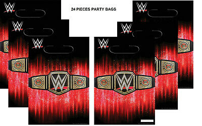 WWE Party Bags Wrestlng Favor Loots Birthday SMASH Decoration Supplies 24 PIECES • 11.43£