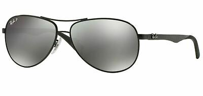 AU129.99 • Buy RayBan 8313 POLARIZED Sunglasses - Black Grey Mirror - RB8313 002/K7 61-13