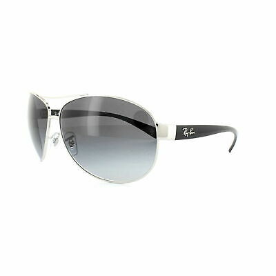 AU99.99 • Buy RayBan 3386 Sunglasses - Silver Black Grey Gradient - RB3386 003/8G 63-13