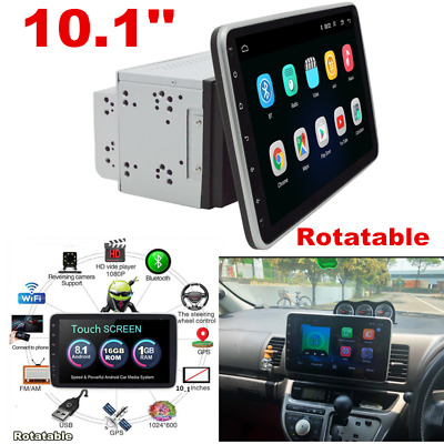 AU261.83 • Buy 10.1in Double 2 DIN Android 8.1 Car Stereo BT 4G Radio GPS Navigation Head Unit