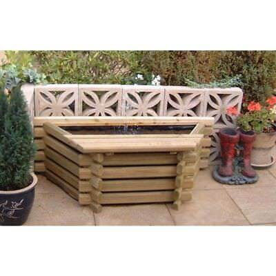 New Garden Pool Flat Back 25 Gallon Fish Pond With Liner Outdoor Water Feature • 149.95£