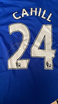 Signed Chelsea Shirt. Autograph Gary Cahill England Crystal Palace • 3.20£