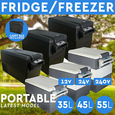 AU399 • Buy 35L 45L 55L Portable Fridge Freezer 12V/24V/240V For Camping Car Boating Caravan