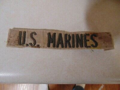 $2.29 • Buy Military Patch Us Name Tape Tag Sew On Desert Combat Used With Words Us Marines
