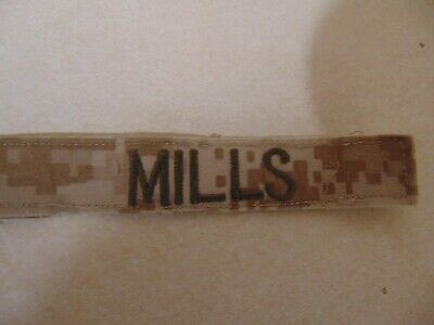 $2.29 • Buy Military Patch Us Marines Name Tape Tag Sew On Desert Combat Used Mills