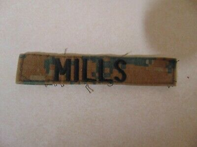 $2.29 • Buy Military Patch Us Marines Name Tape Tag Sew On Marpat Combat Used Mills