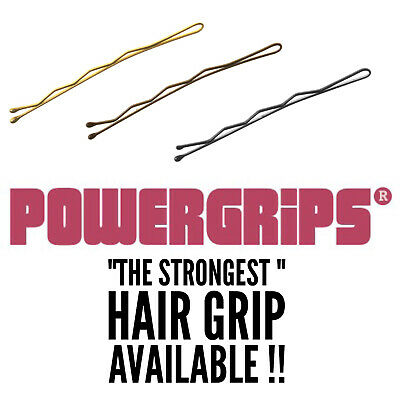 £3.99 • Buy Powergrips 2  Black Brown Blonde Waved Hair Clips Kirby Grips Bobby Pins Pin