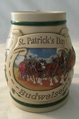 $ CDN39.99 • Buy Budweiser St. Patrick's Day 1996 St. Pat's Day Horseshoe Stein No COA/Box CS269