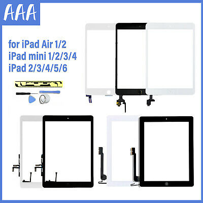 £9.99 • Buy For IPad 2/3/4/5/6 Mini 1/2/3/4 Air 1/2 Touch Screen Replacement Glass Digitizer