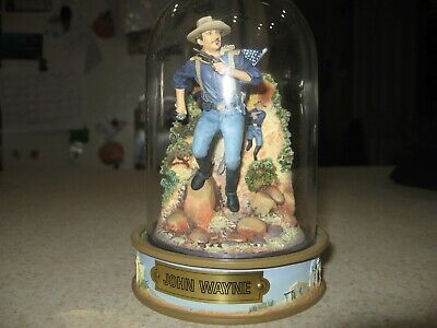$14.99 • Buy John Wayne Classic Franklin Mint Diarama Hand Painted Sculpture Dome Numbered 8