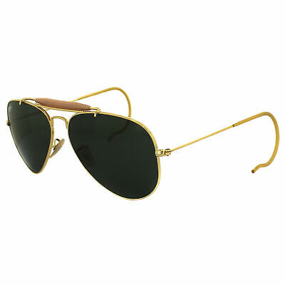 AU99.99 • Buy RayBan Outdoorsman Sunglasses - Gold Green Classic G-15 - 3030 L0216 58-14