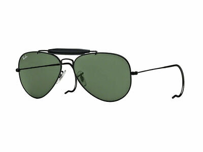 AU99.99 • Buy RayBan Outdoorsman Sunglasses - Black Green Classic G-15 - 3030 L9500 58-14