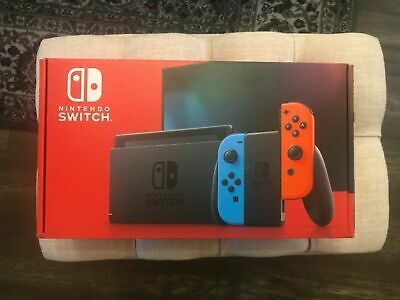 $ CDN620 • Buy Nintendo Switch 32GB Gray Console With Neon Red And Neon Blue Joy-Con