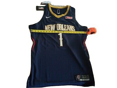 $33 • Buy Nwt Zion Williamson Pelicans Jersey Sz 50 XL Stitched Navy Blue