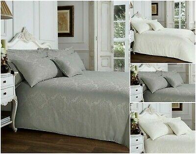 £19.99 • Buy Jacquard Damask Duvet Cover Quilt Bedding Set With Luxury Pillowcases King Size
