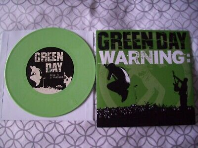 Green Day Warning 7  Green Vinyl New  • 12£