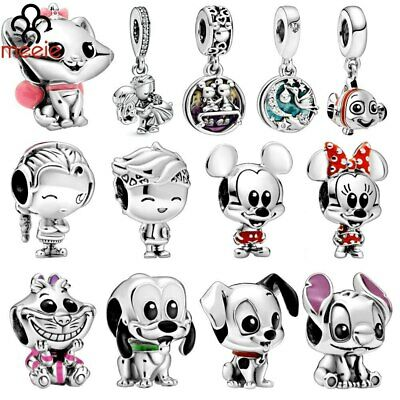 $14.99 • Buy 925 Sterling Silver Cartoon Animal Charm Stitch Beads F4Pandora Minnie Mouse