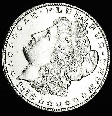 $42 • Buy 1878-s Morgan Silver Dollar  Full  Chest Feathers.   High Grade (INV.A)