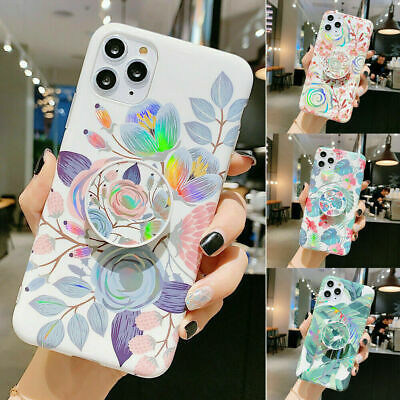 AU16.99 • Buy For IPhone 11 XR XS X 7 8 Plus Flower Cover Case With Pop Up Holder Socket