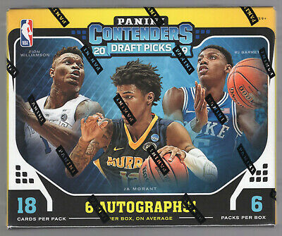$199.99 • Buy 2019/20 Panini Contenders Draft Picks Basketball Sealed Hobby Box Zion Ja ?