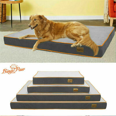 $72.92 • Buy Ultra Large Waterproof Dog Bed Mattress Crate Kennel Pillow Mat Removable Cover