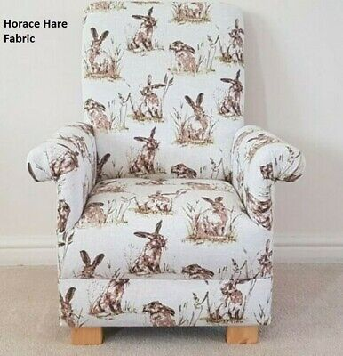 £99.95 • Buy Kids Chair Horace Hare Fabric Children's Armchair Rabbits Watership Down Beige